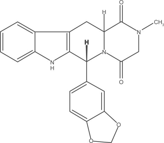 Molecular structure of tadalafil
